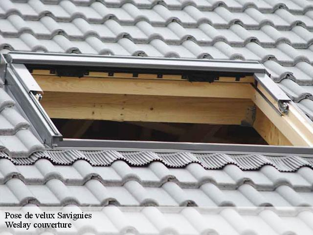 Pose de velux  savignies-60650 Weslay couverture